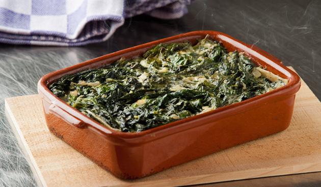 Spinazie a la crème met lasagne vellen en HEKS'NKAAS®  (4 pers)