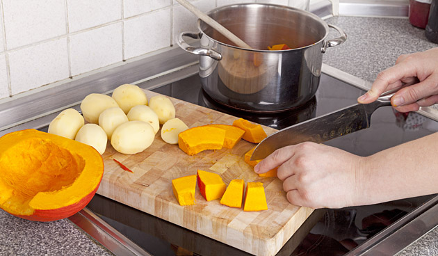 Kipfilet met pompoen en aardappelen