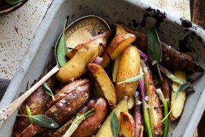 geroosterde aardappel met salie