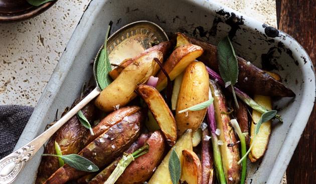 Recept geroosterde aardappelen met salie