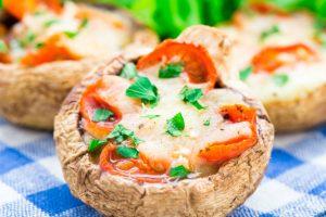 recept gevulde champignons