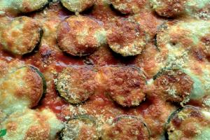 Courgettes met Parmezaanse kaas