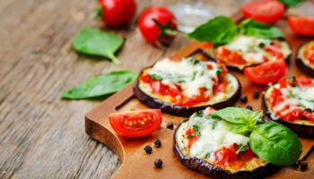 aubergine pizza's