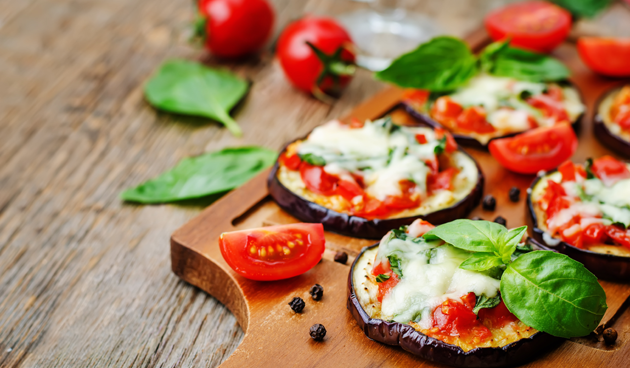 Recept aubergine-pizza's