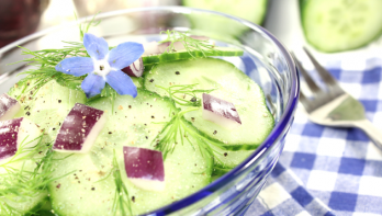 Recept gepekelde komkommer met borage