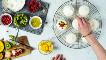 Recept mini-meringues met fruit
