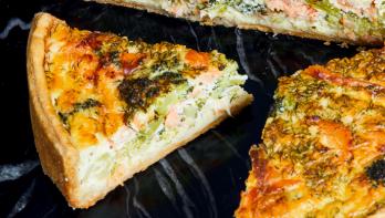 Recept quiche gerookte zalm & broccoli