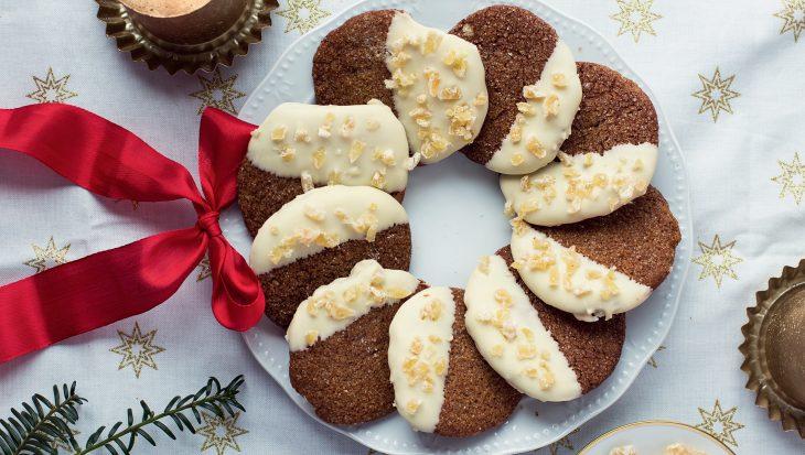 Recept Ginger Snaps met witte chocolade