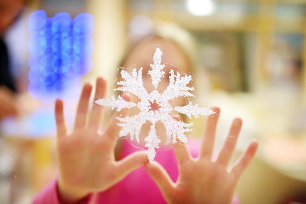 sneeuwvlok raamsticker