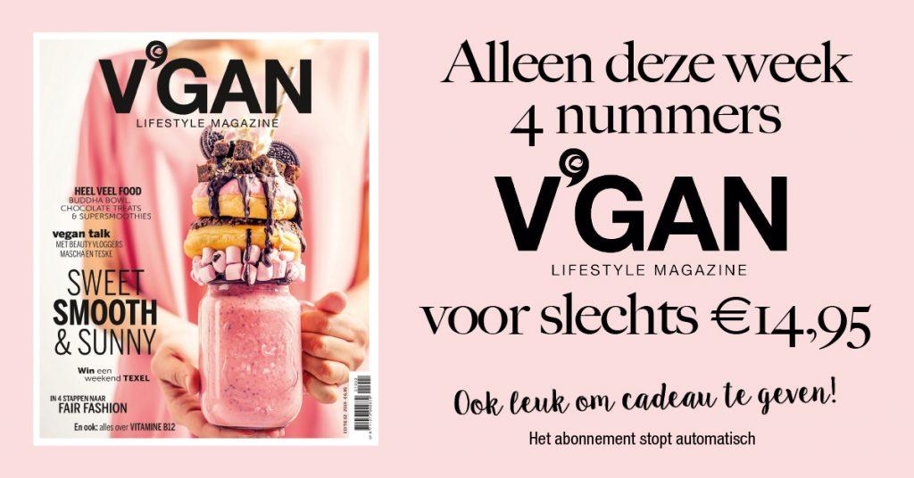V'GAN magazine speciale aanbieding abonnement