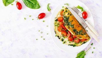 Recept frisse en gezonde kruidenomelet