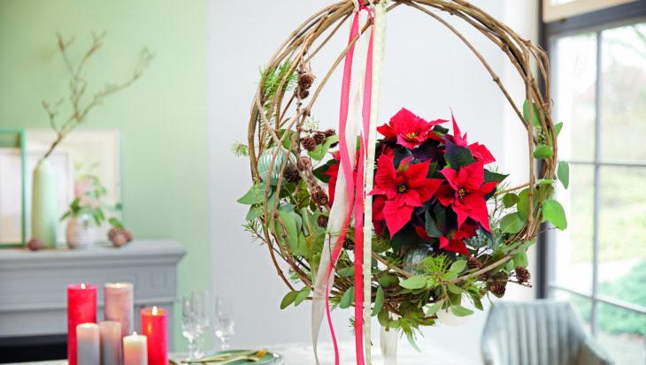 DIY: Kerstkrans met een Poinsettia
