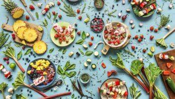 Parelcouscous met kikkererwten en geroosterde groenten