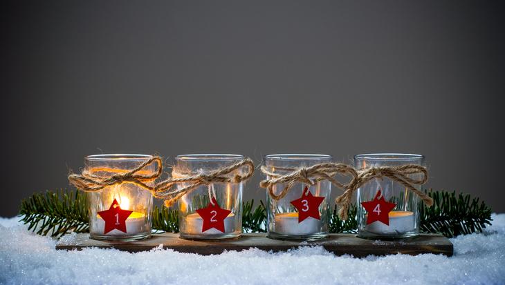 Adventskalender zelf maken met kaarsen