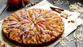 Appelwalnotencake met speltmeel
